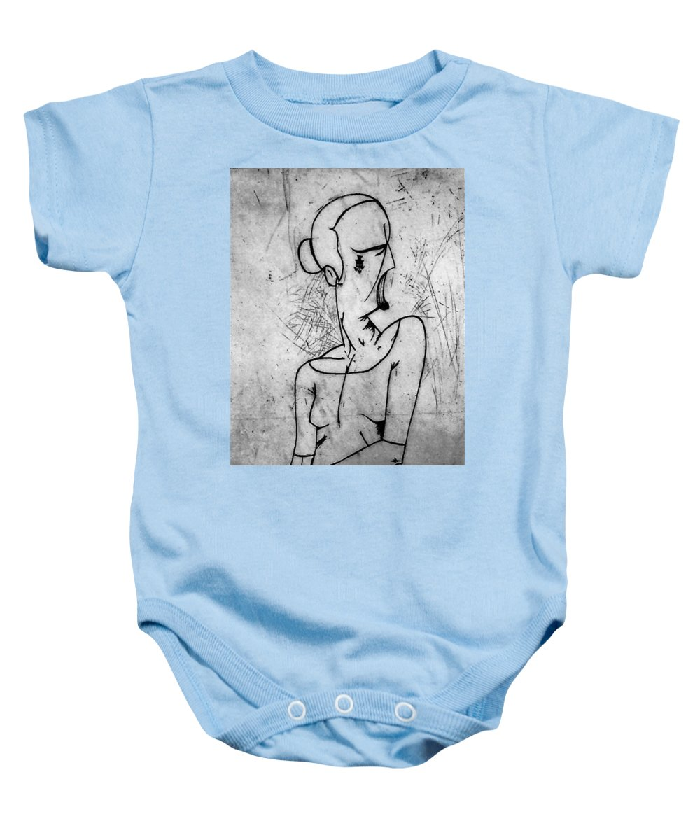 Misc Baby Onesie featuring the relief Screamer by Thomas Valentine