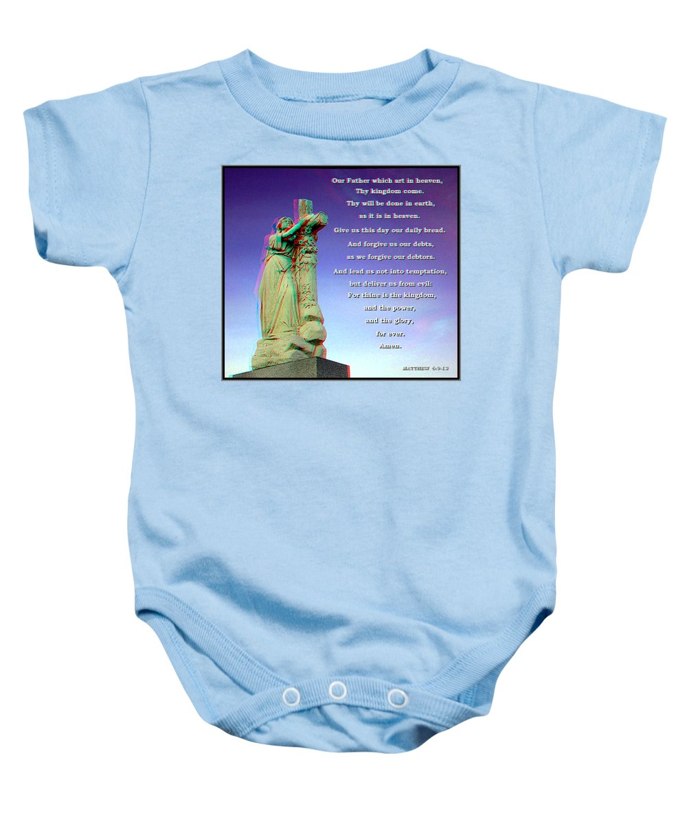 3d Baby Onesie featuring the photograph Scripture - Use Red-cyan 3d Glasses by Brian Wallace