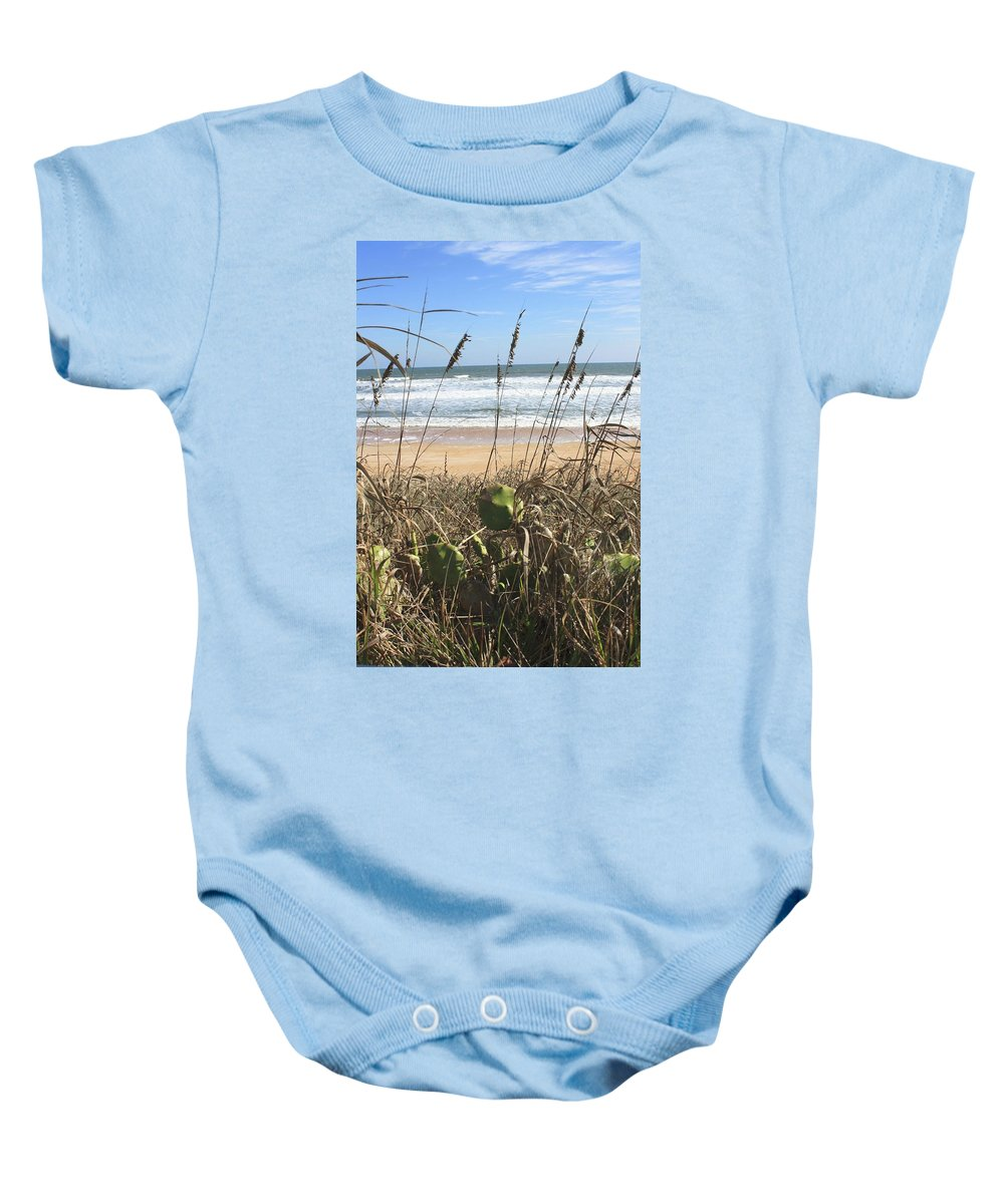 Beach Baby Onesie featuring the photograph Seagrass by Jost Houk