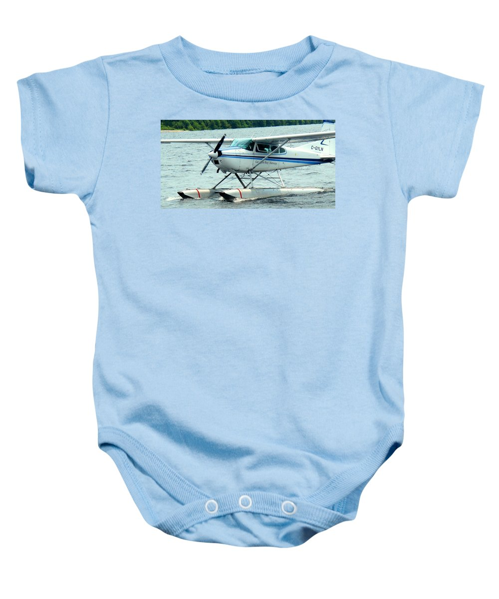 Airplane Baby Onesie featuring the photograph Seaplane by Ian MacDonald