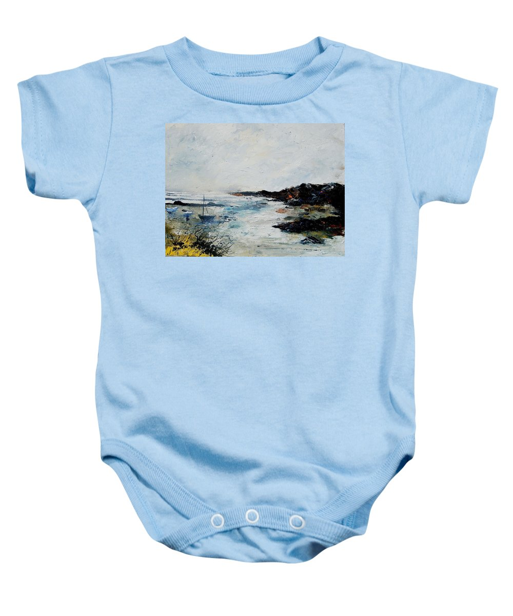 Sea Baby Onesie featuring the painting Seascape 68 by Pol Ledent