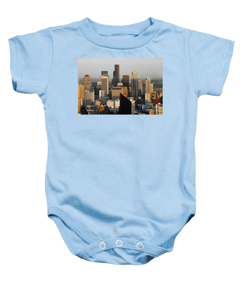 Seattle Washington Baby Onesie featuring the photograph Seattle by David Lee Thompson