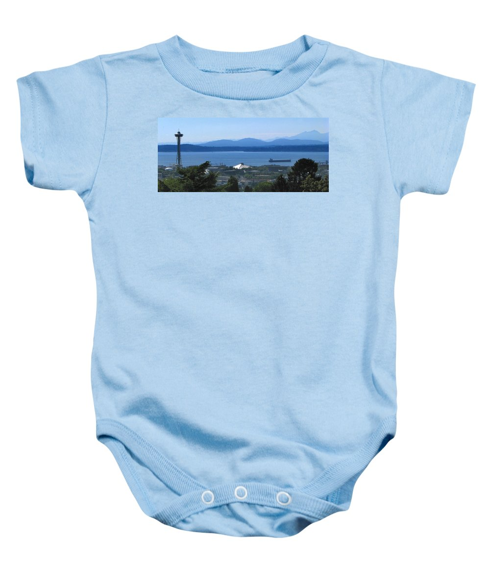 Seattle Baby Onesie featuring the photograph Seattle from Above by Jeffery Ball