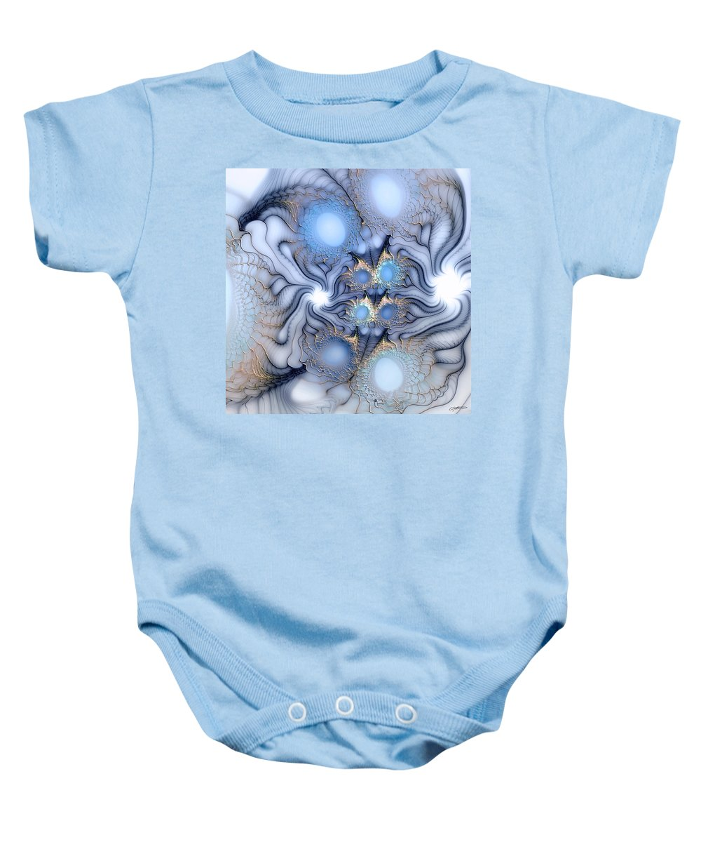Abstract Baby Onesie featuring the digital art Sensorial Seduction by Casey Kotas