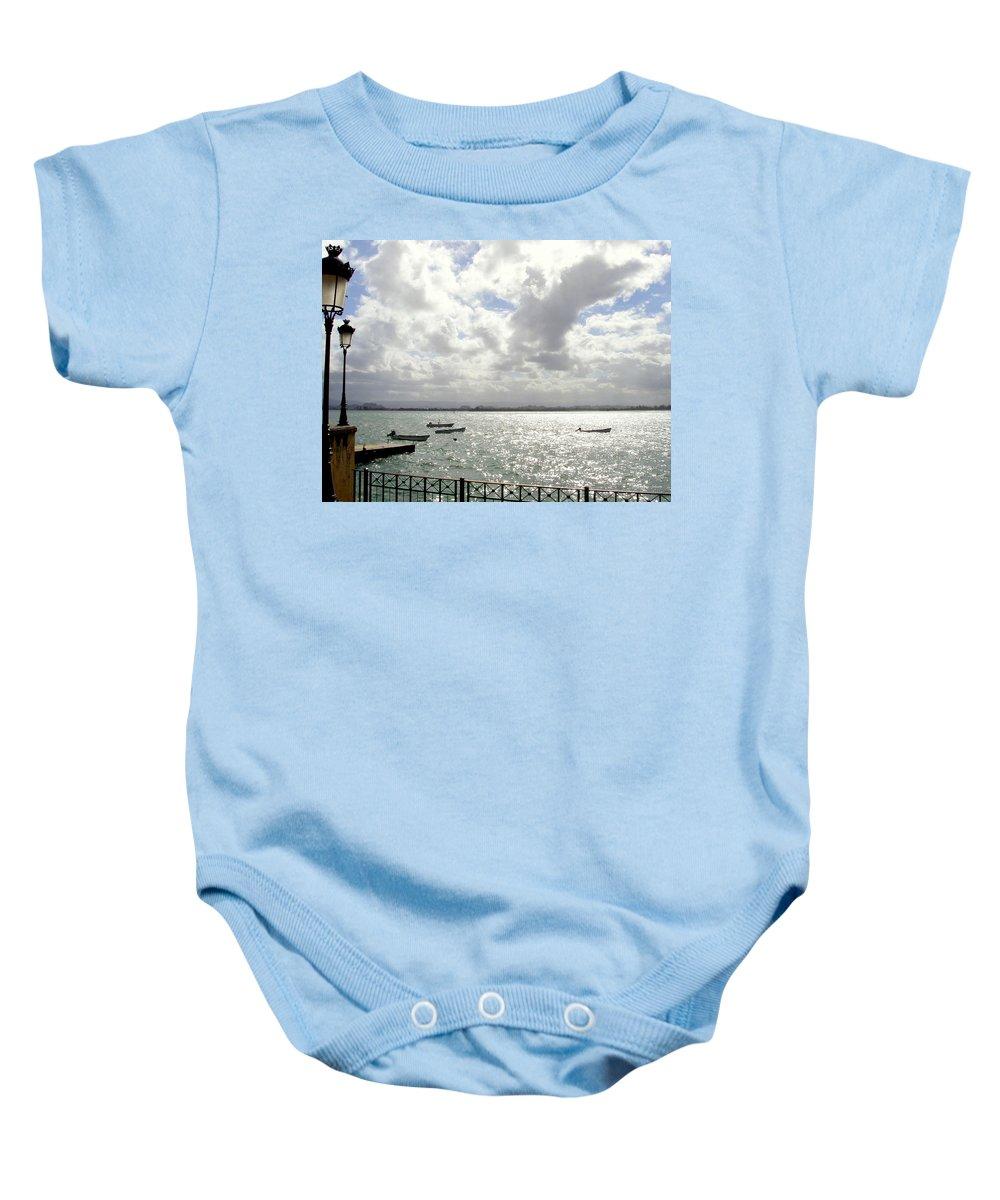Seaside Baby Onesie featuring the photograph Serene by Deborah Crew-Johnson