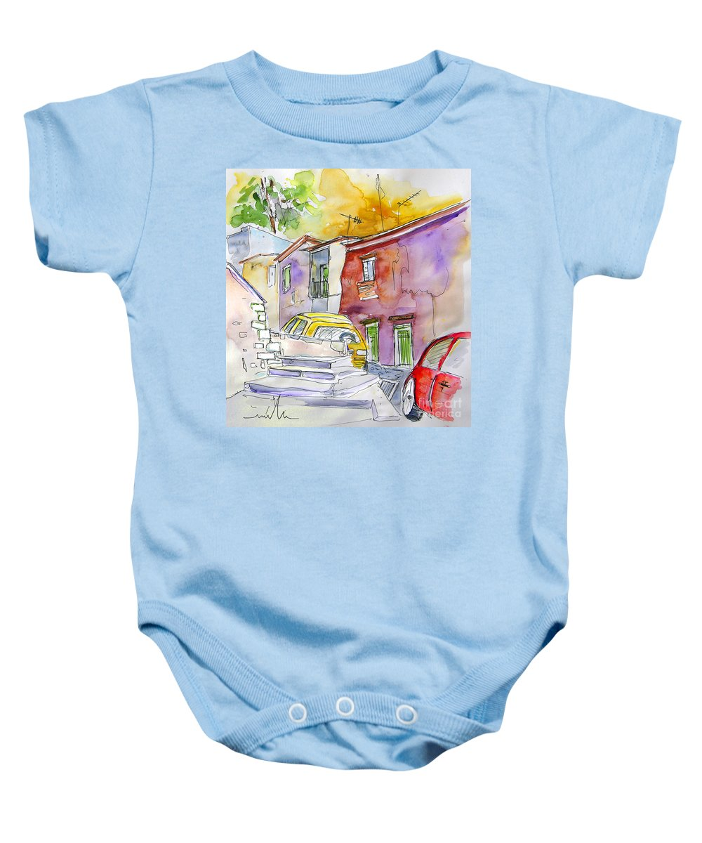 Portugal Paintings Baby Onesie featuring the painting Serpa Portugal 12 by Miki De Goodaboom