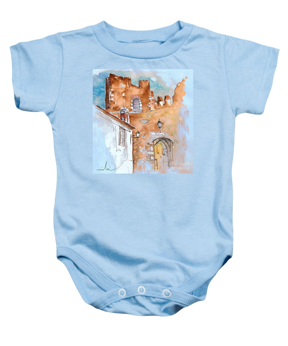 Water Colour Painting Serpa Portugal Baby Onesie featuring the painting Serpa Portugal 29 by Miki De Goodaboom