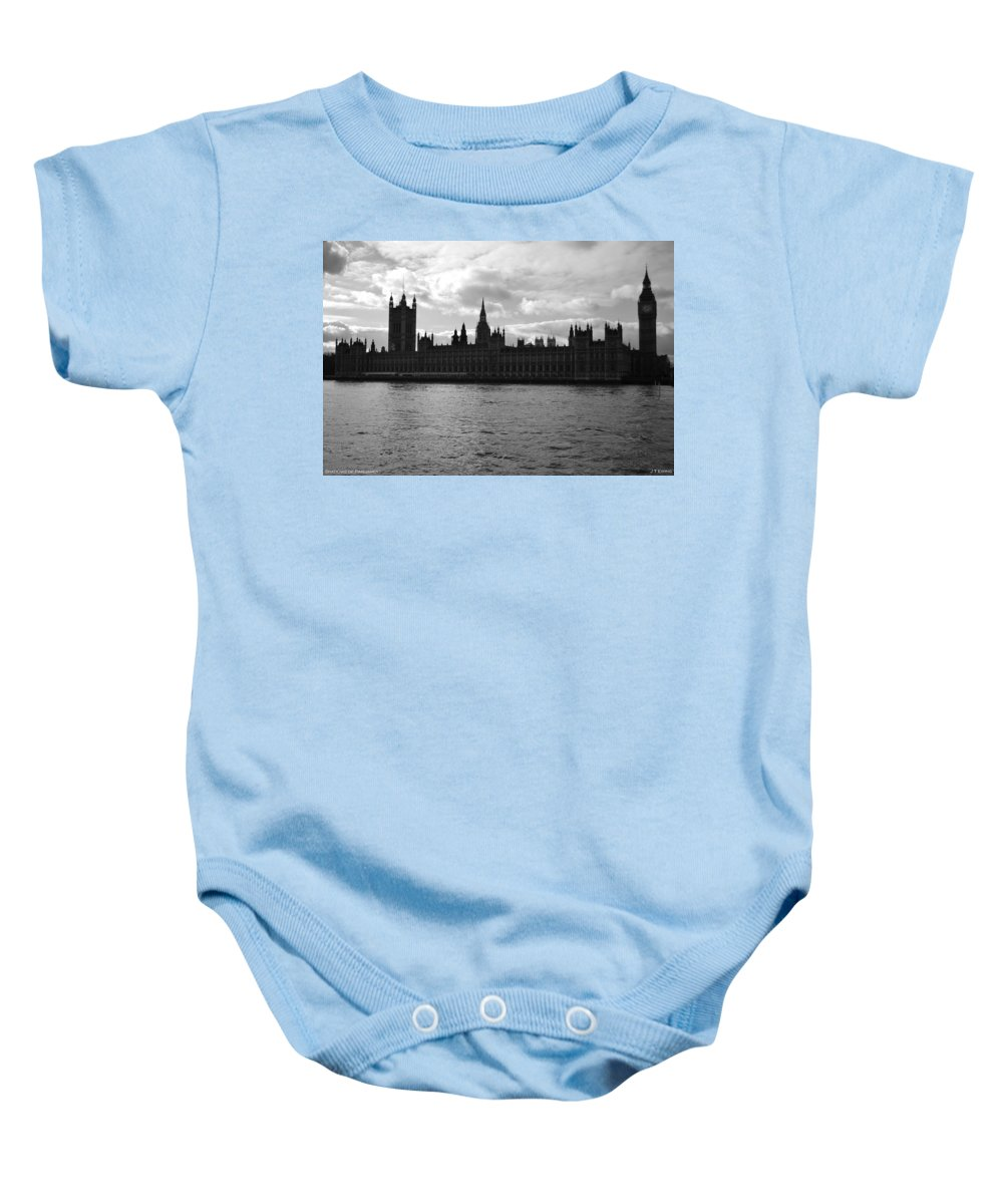 London Baby Onesie featuring the photograph Shadows Of Parliament by J Todd