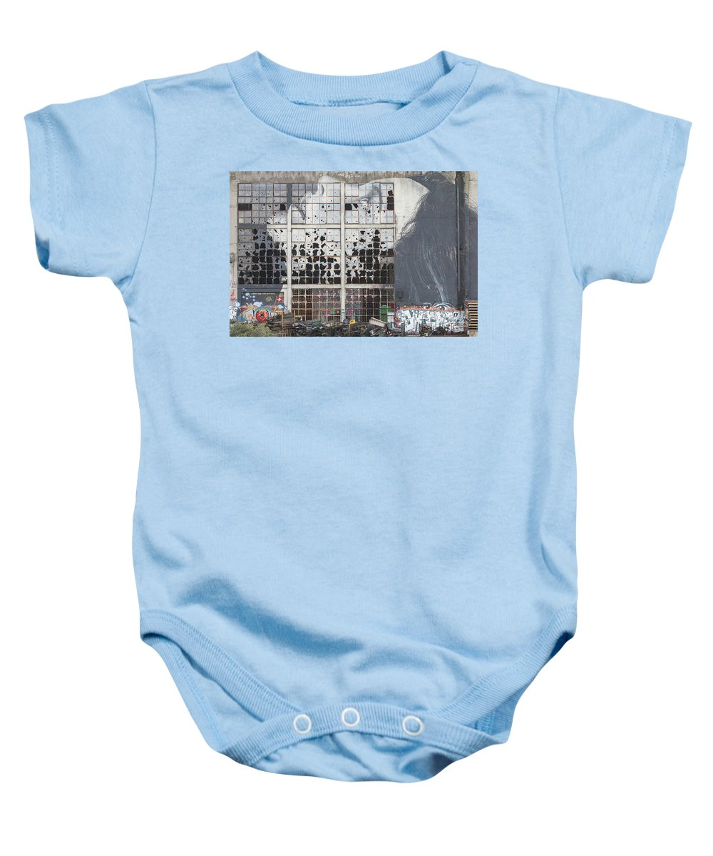 Anatomy Baby Onesie featuring the photograph Shattered Dreams by Howard Ferrier
