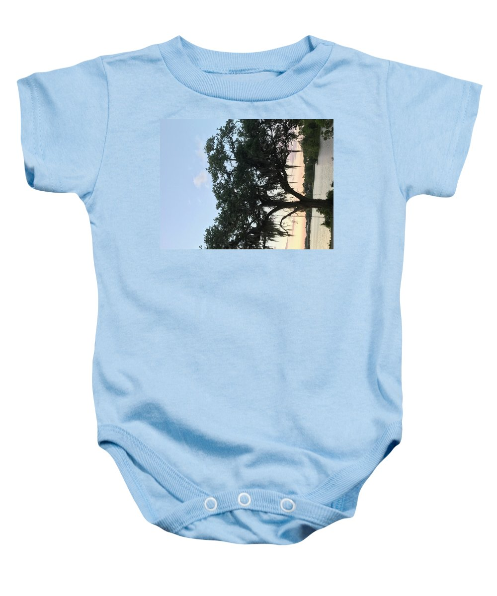 Sunset Baby Onesie featuring the photograph Simply Beautiful by Nita Molden
