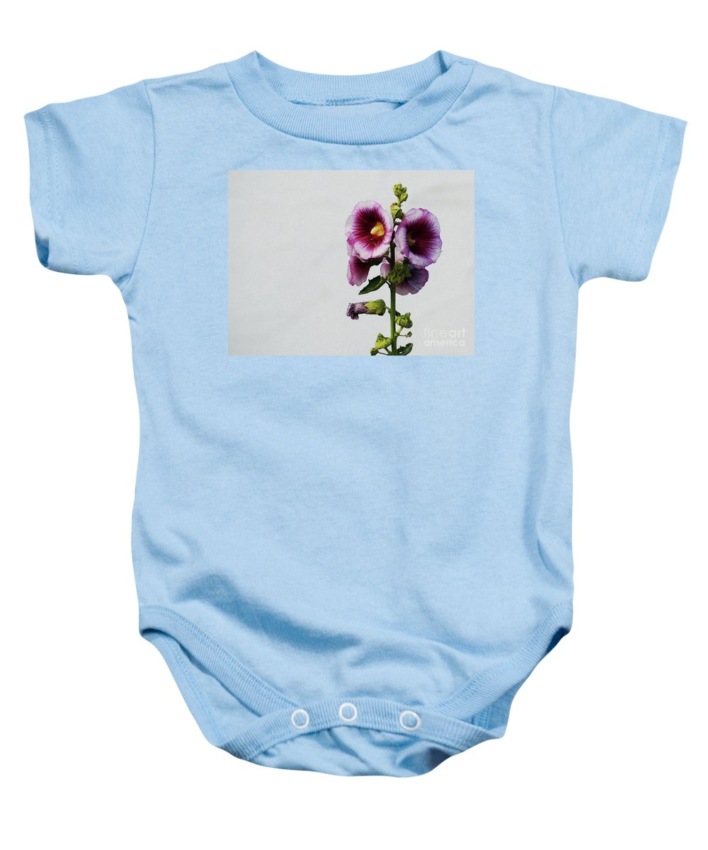 Flower Baby Onesie featuring the photograph Simply Stated by Linda Shafer