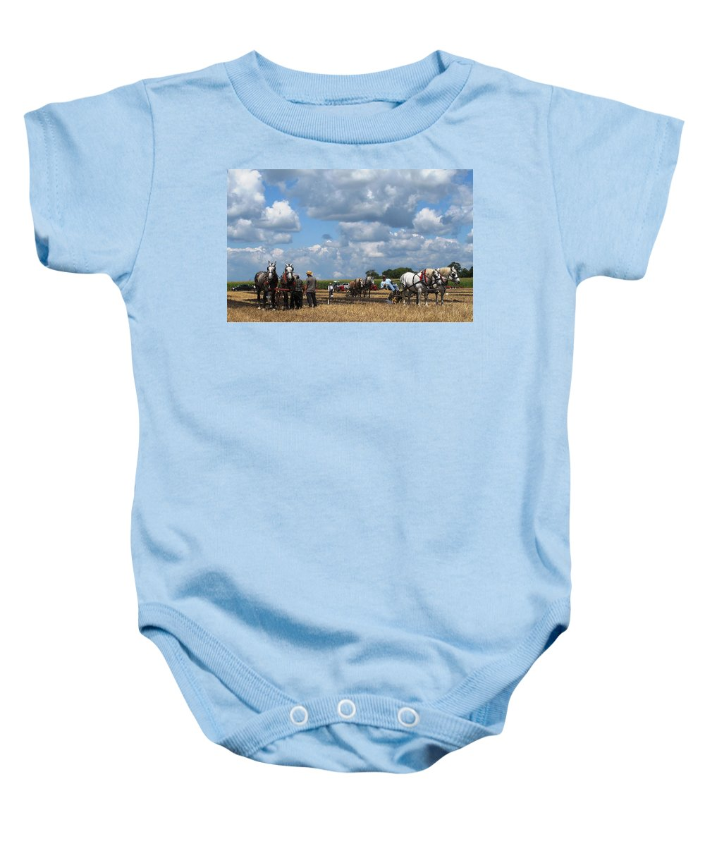 Horse Baby Onesie featuring the photograph Six Horses by Ian MacDonald