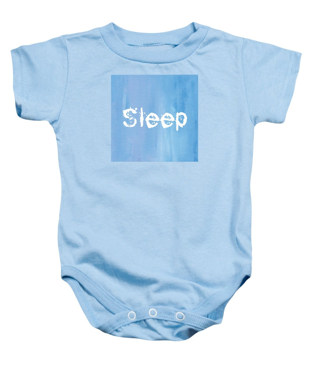 Love Baby Onesie featuring the mixed media Sleep by Kathleen Wong