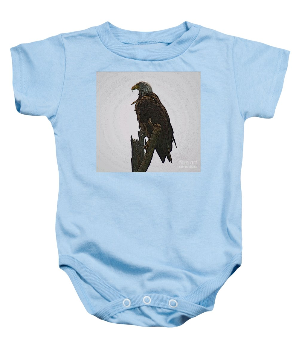 Bald Eagle Baby Onesie featuring the photograph Solitude by Robert Pearson
