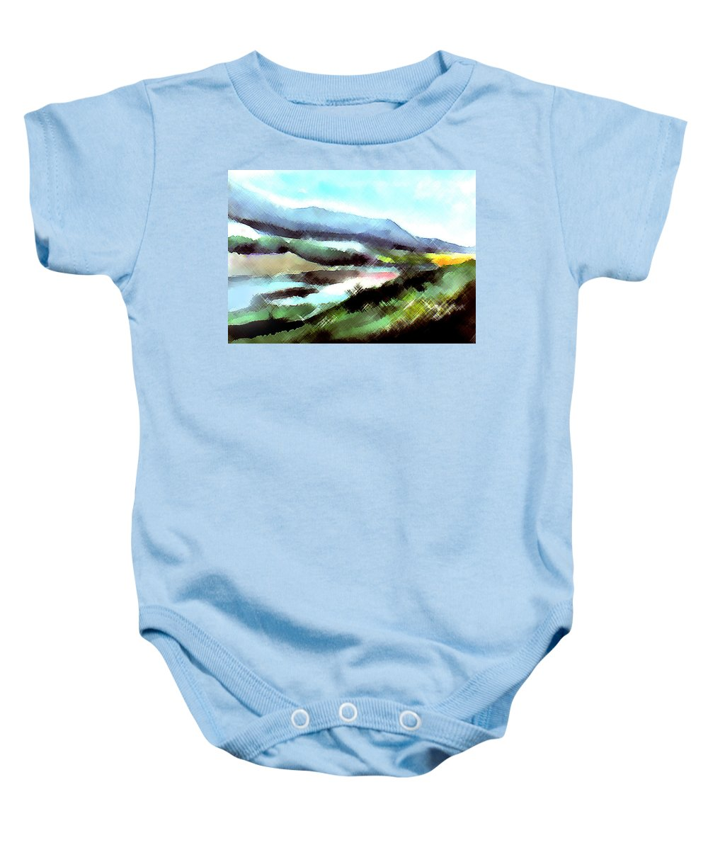 Digital Art Baby Onesie featuring the painting Sparkling by Anil Nene