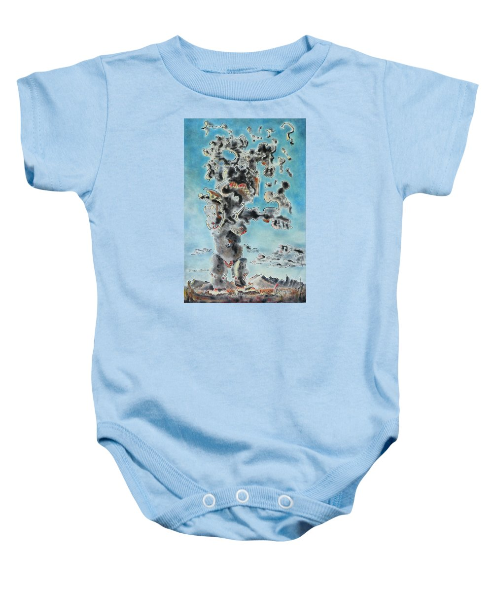 Surreal Baby Onesie featuring the painting Spectre by Dave Martsolf