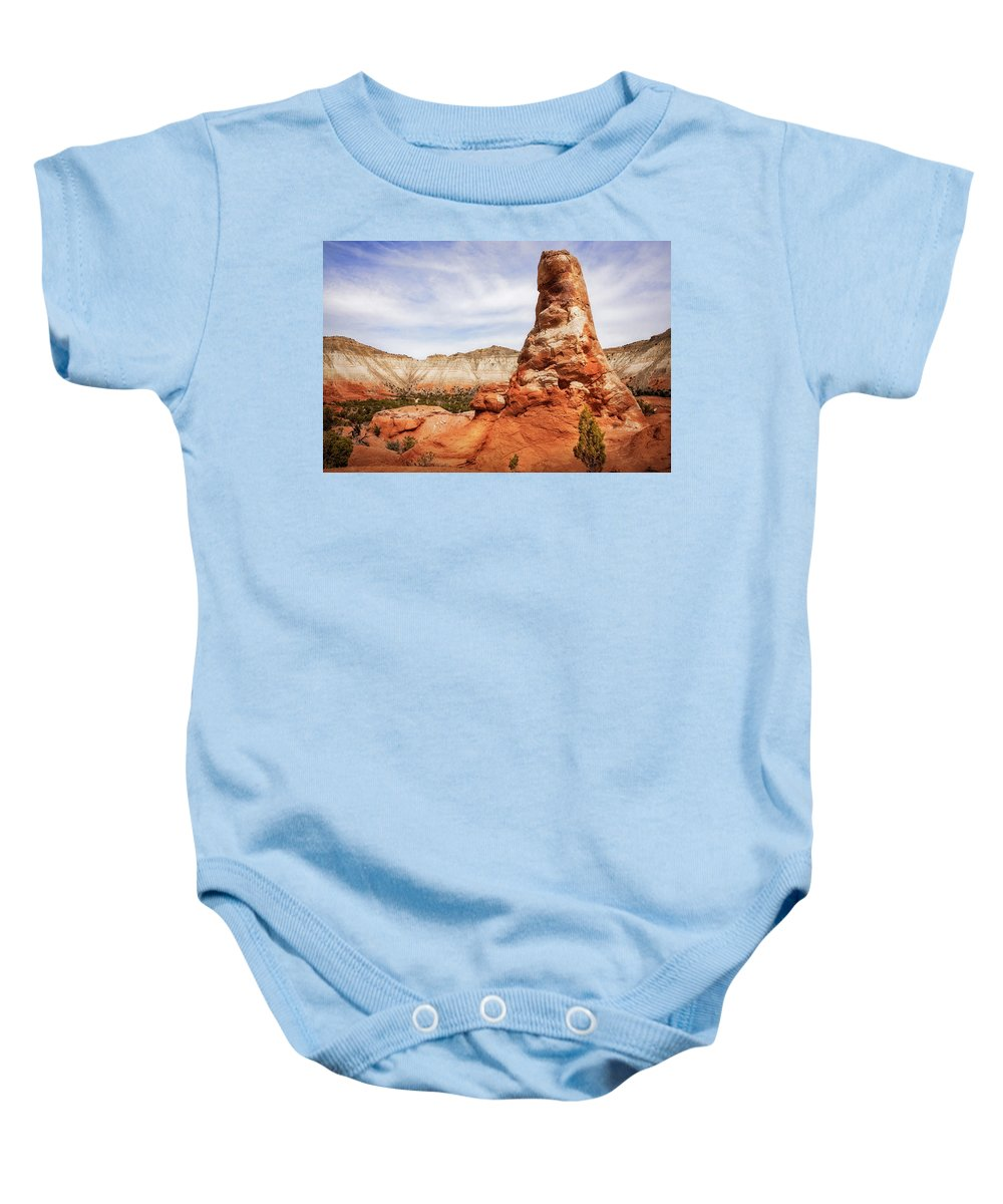 American Southwest Baby Onesie featuring the photograph Spire Rocks At Kodachrome Basin State Park by Daniela Constantinescu