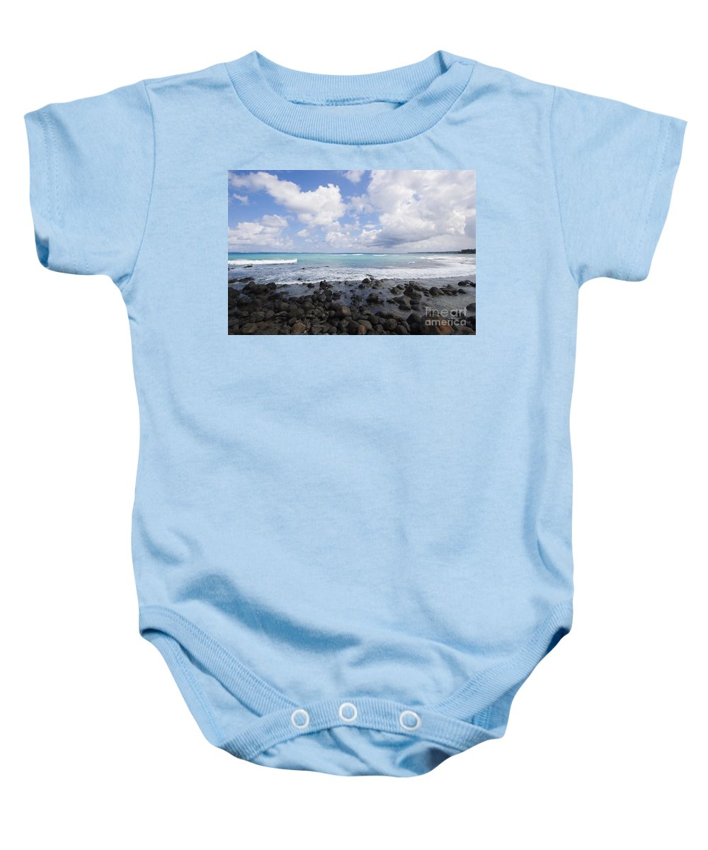 Beach Baby Onesie featuring the photograph Spreckelsville, Rocky Sho by Ron Dahlquist - Printscapes