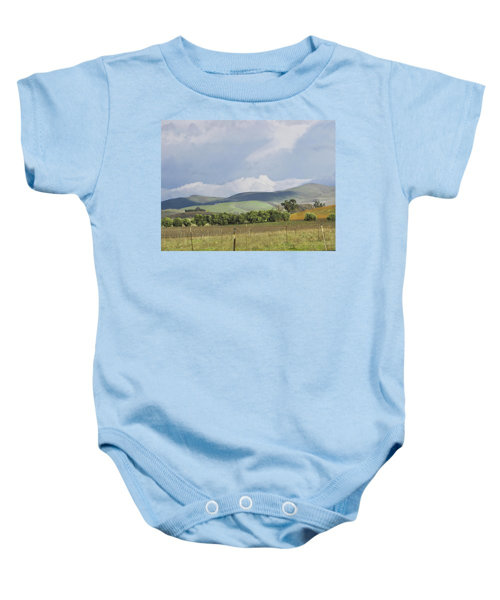 Landscape Baby Onesie featuring the photograph Spring In Livermore by Karen W Meyer
