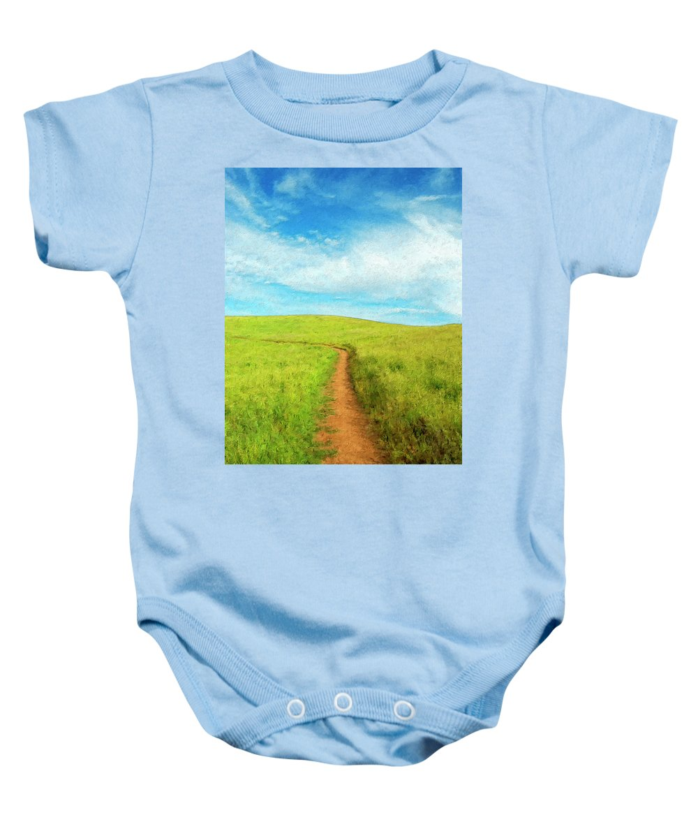 Stand By Me Baby Onesie featuring the painting Stand By Me by Dominic Piperata