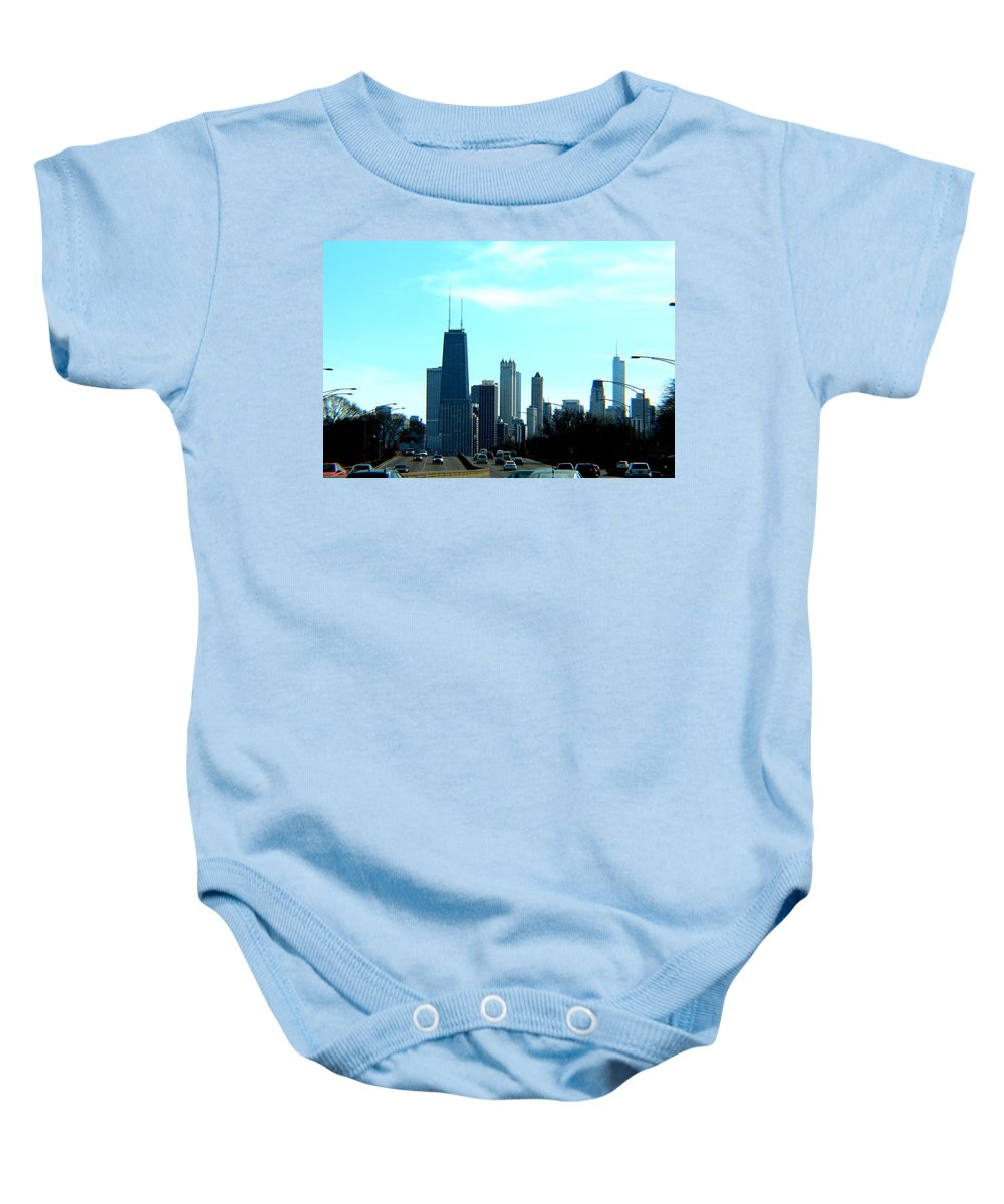 Buildings Baby Onesie featuring the photograph Standing Tall by Jose Corona