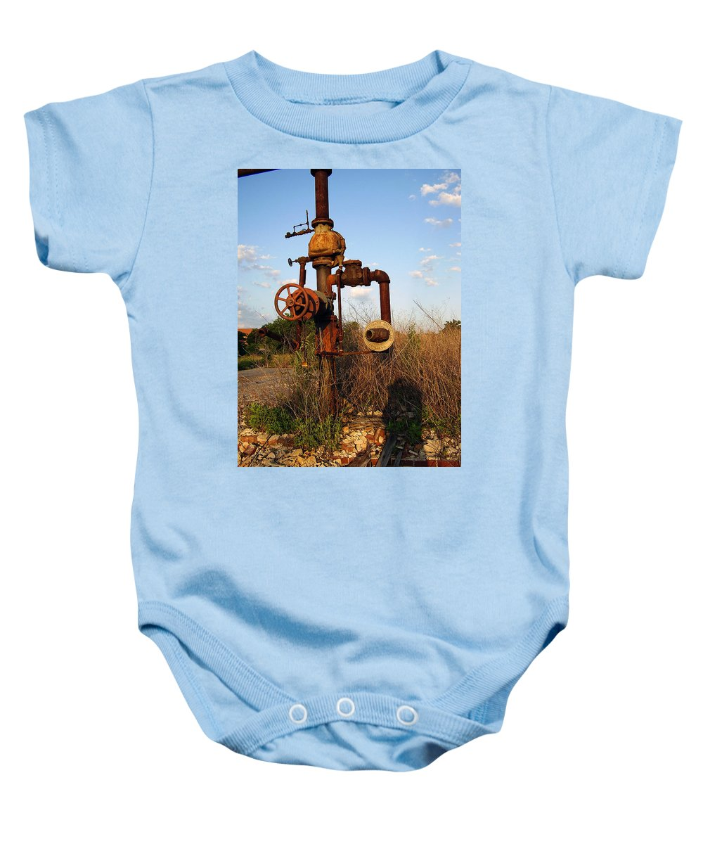 Pipes Baby Onesie featuring the photograph Still Here by Flavia Westerwelle