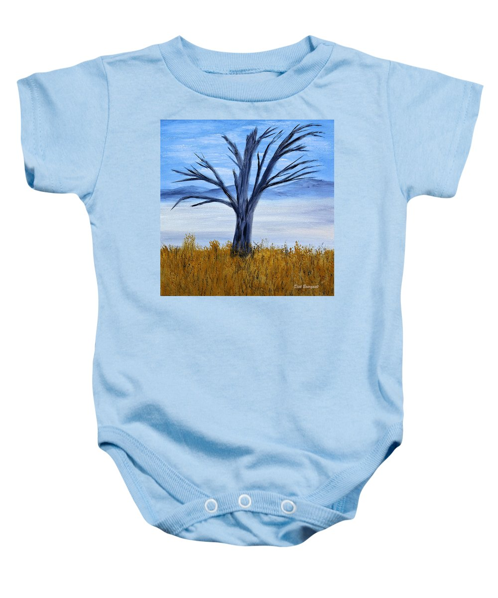 Tree Baby Onesie featuring the painting Still Standing by Dick Bourgault