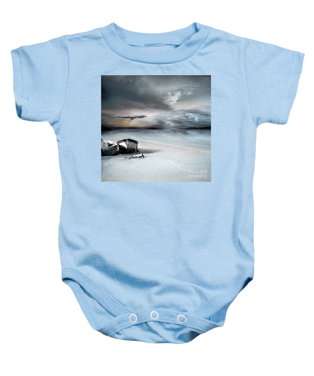 Water Baby Onesie featuring the photograph Stranded by Jacky Gerritsen