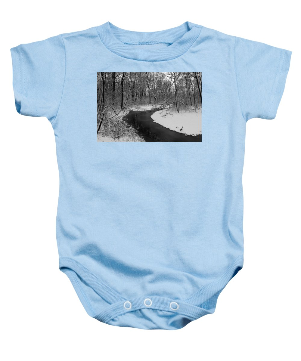 Stream Baby Onesie featuring the photograph Stream by Steve Bell