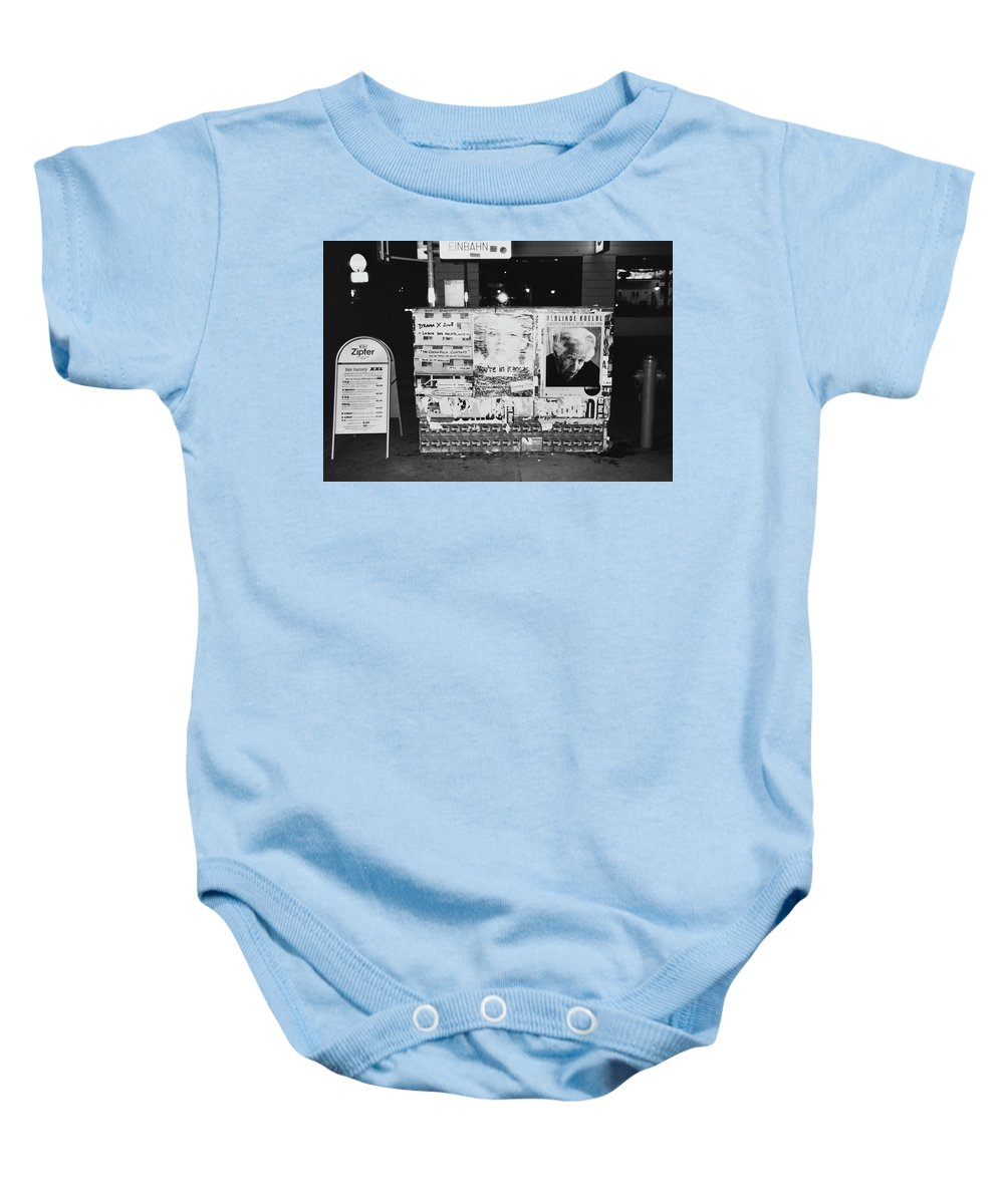 Bw Baby Onesie featuring the photograph Street Series #6 by Dana West