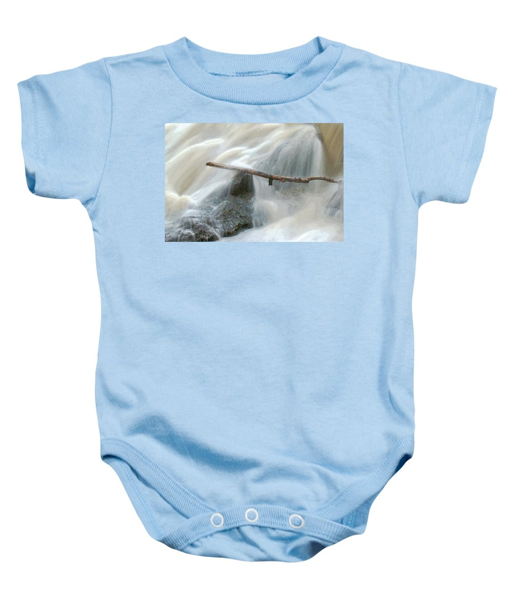 Stick Baby Onesie featuring the photograph Stuck Digitally Enhanced by Ernie Echols