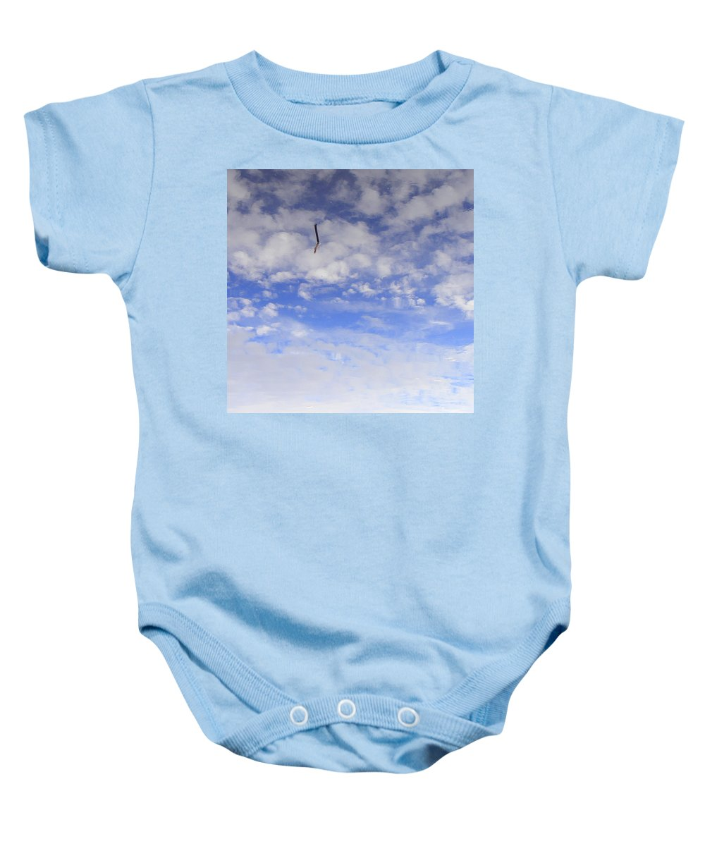 Sky Baby Onesie featuring the photograph Stuck In The Clouds by Ed Smith