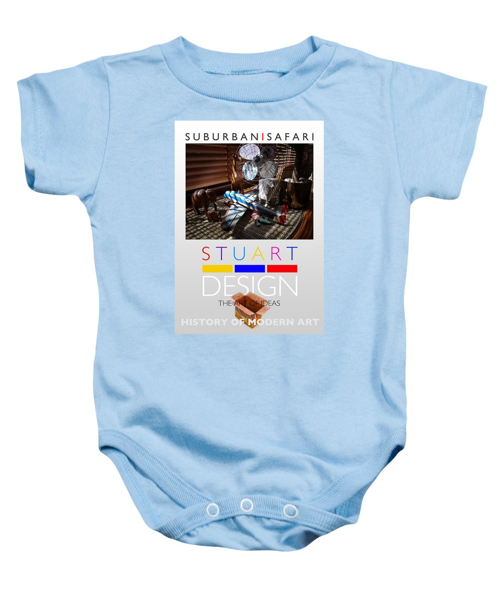 De Stijl Baby Onesie featuring the photograph Suburban Safari Poster by Charles Stuart