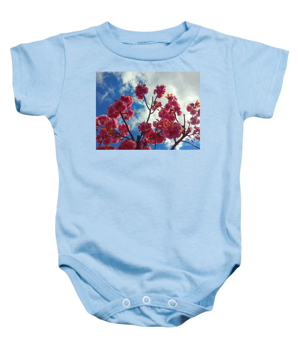 Summer Baby Onesie featuring the photograph Summer Bloom by PrettTea Art Gallery By Teaya Simms