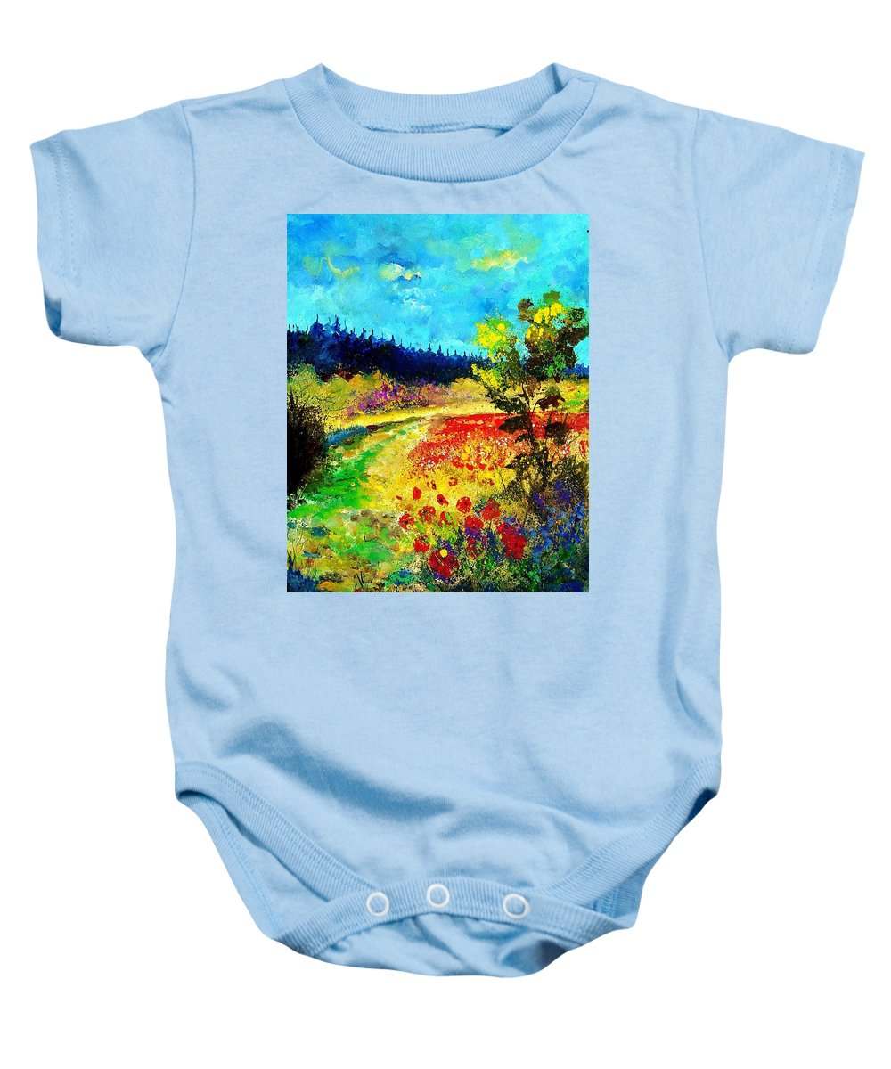 Flowers Baby Onesie featuring the painting Summer by Pol Ledent