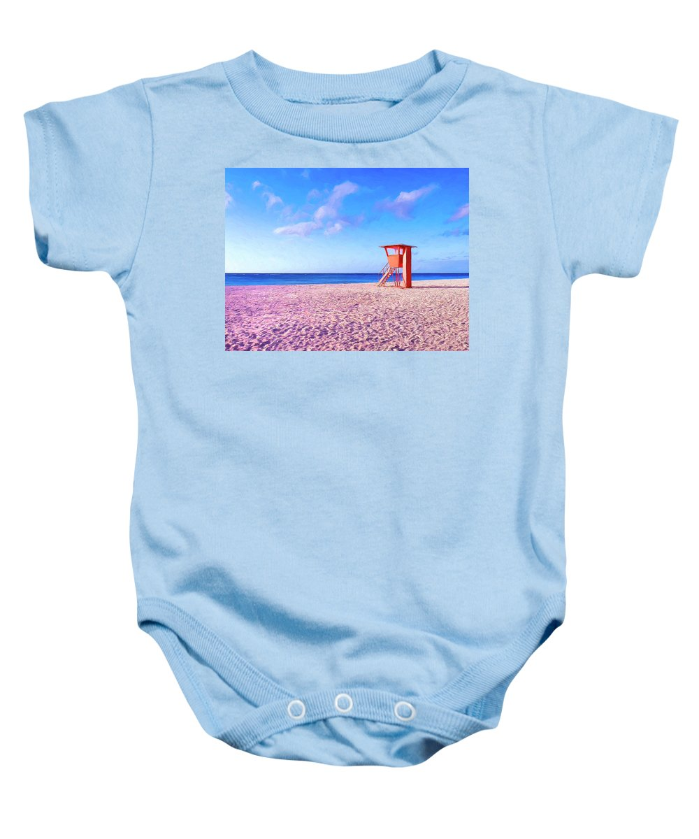 Beach Baby Onesie featuring the painting Summer's End by Dominic Piperata