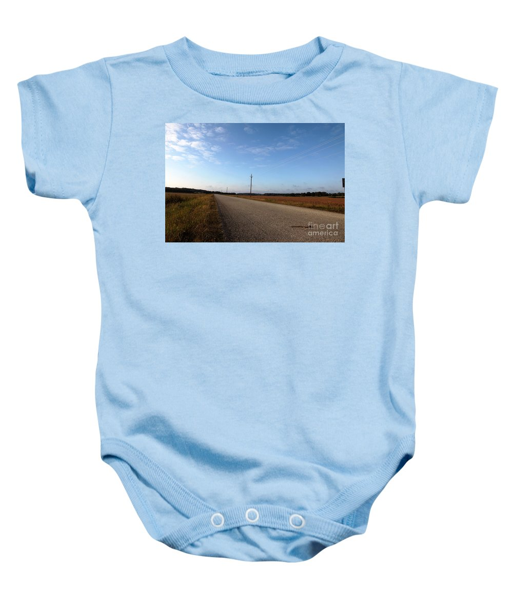 Roads Baby Onesie featuring the photograph Sunday Drive Series by Amanda Barcon