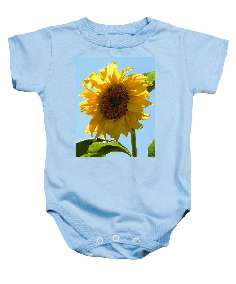 Sunflower Baby Onesie featuring the photograph Sunny Day by Sandi OReilly