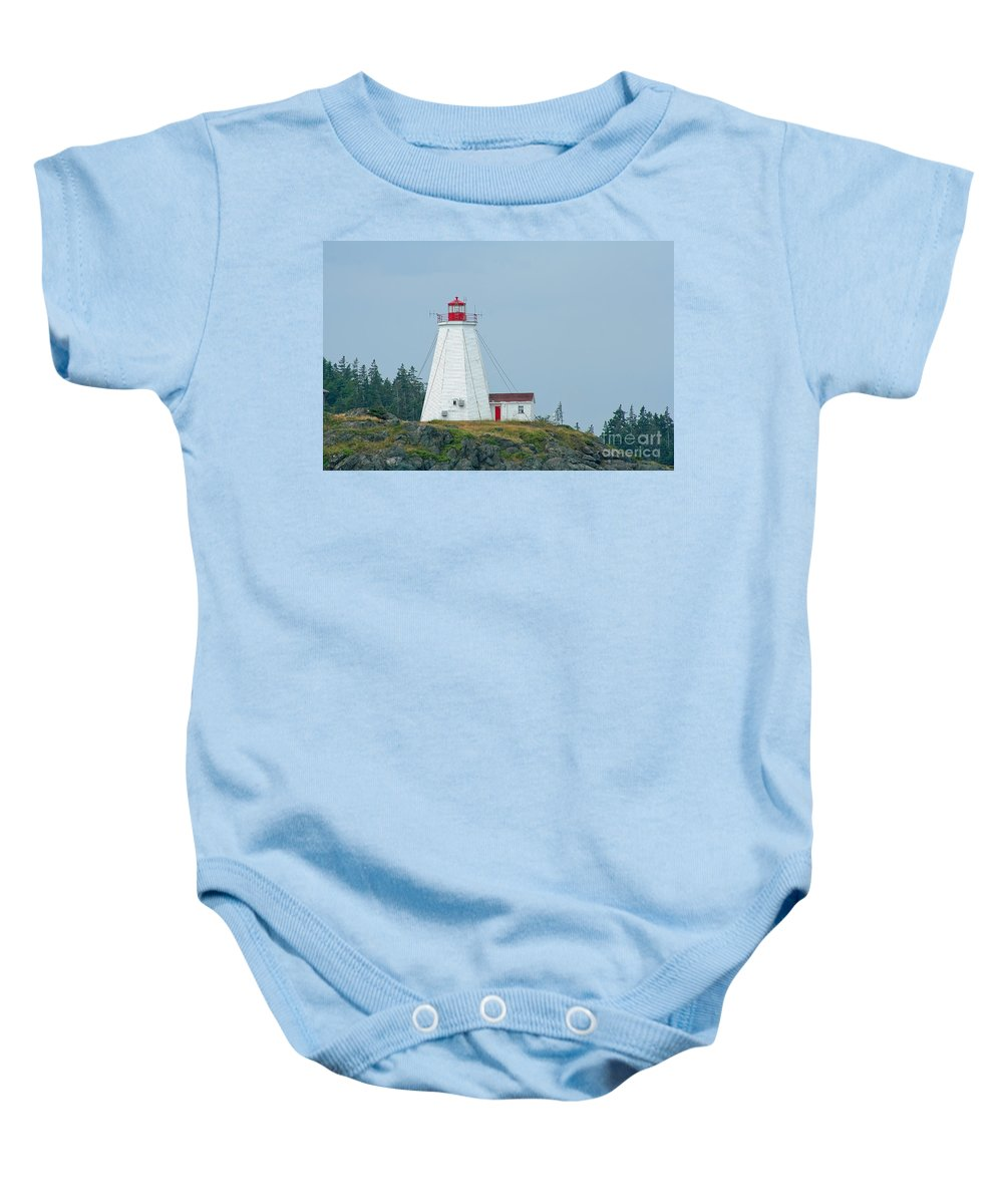 Lighthouse Baby Onesie featuring the photograph Swallowtail Lighthouse by Thomas Marchessault