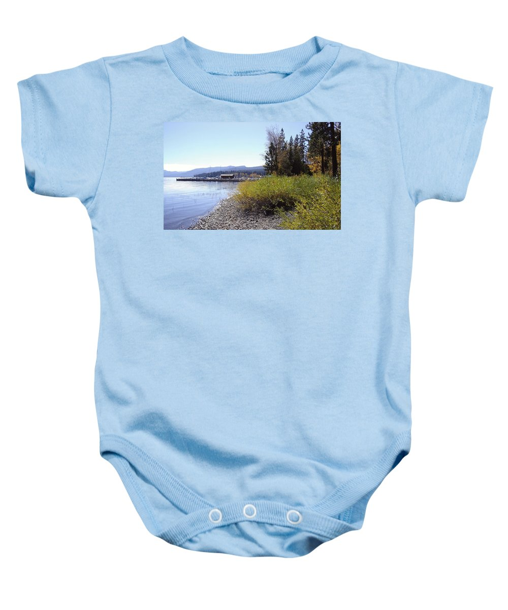 Lake Baby Onesie featuring the photograph Tahoe by Mary Rogers