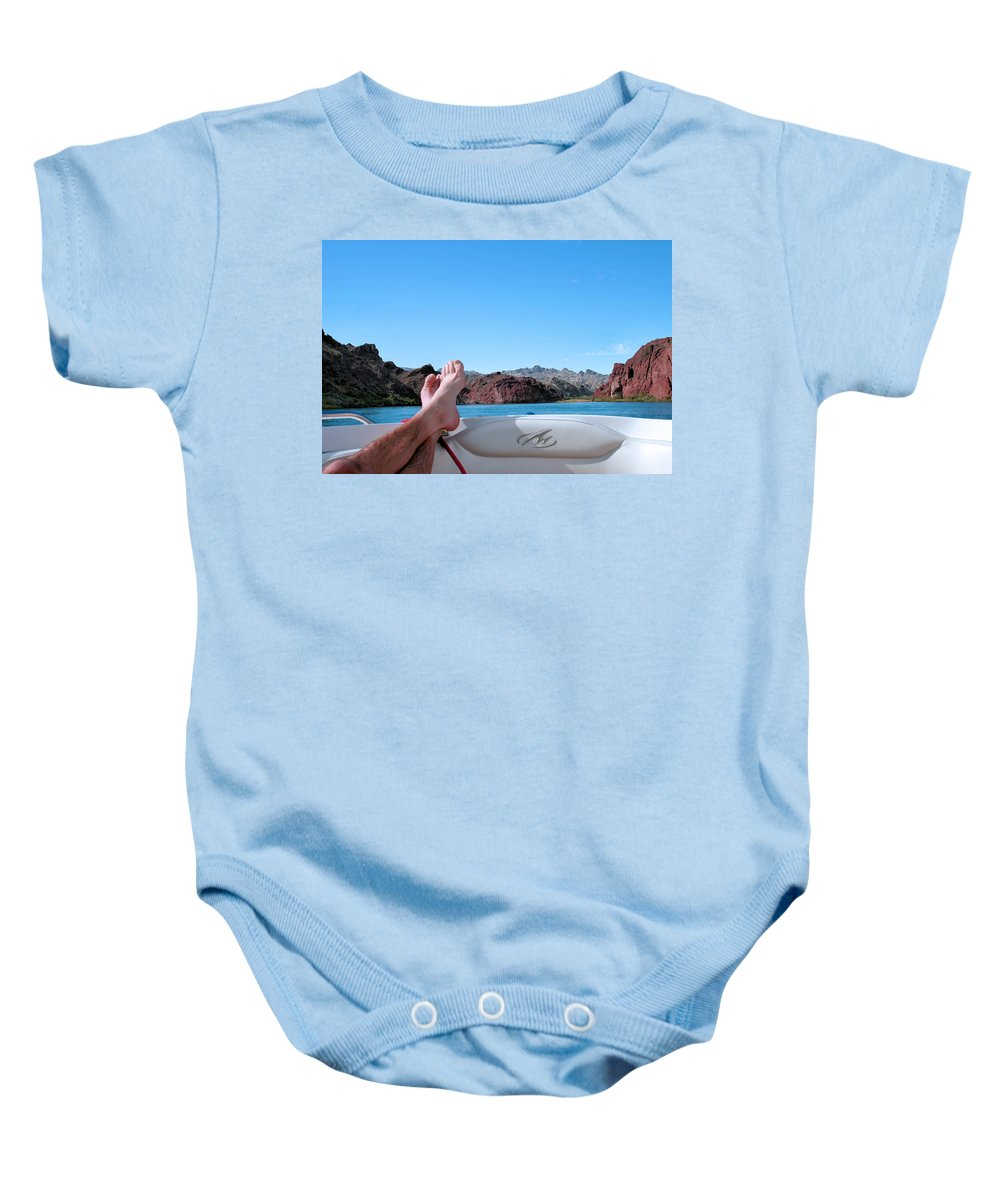 Boat Baby Onesie featuring the photograph Takin It Easy by Kristin Elmquist
