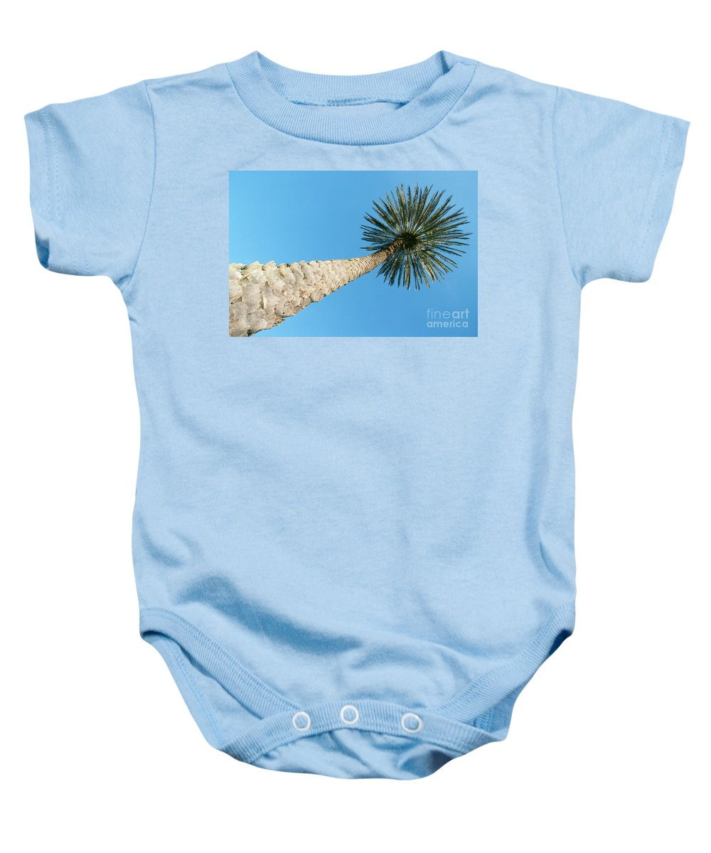 Bark Baby Onesie featuring the photograph Tall Palm by William Waterfall - Printscapes