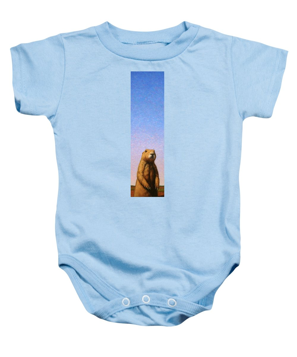 Prairie Dog Baby Onesie featuring the painting Tall Prairie Dog by James W Johnson