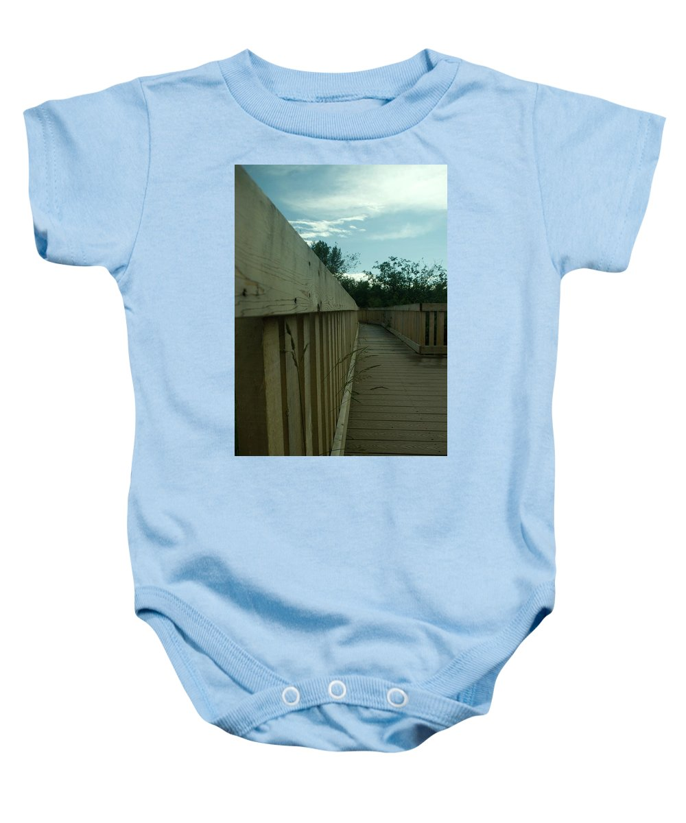 Wood Baby Onesie featuring the photograph The Boardwalk by Travis Crockart