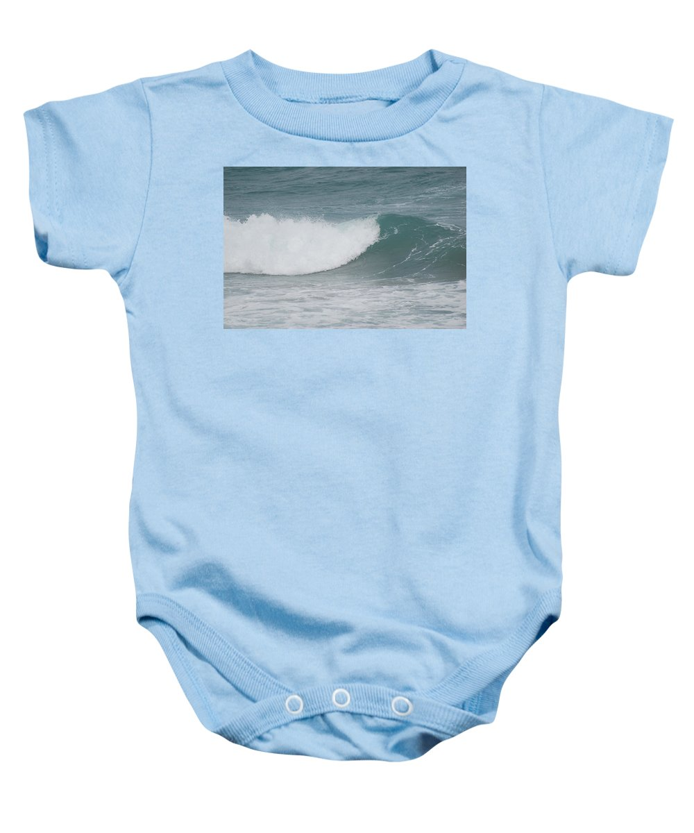 Water Baby Onesie featuring the photograph The Break by Rob Hans
