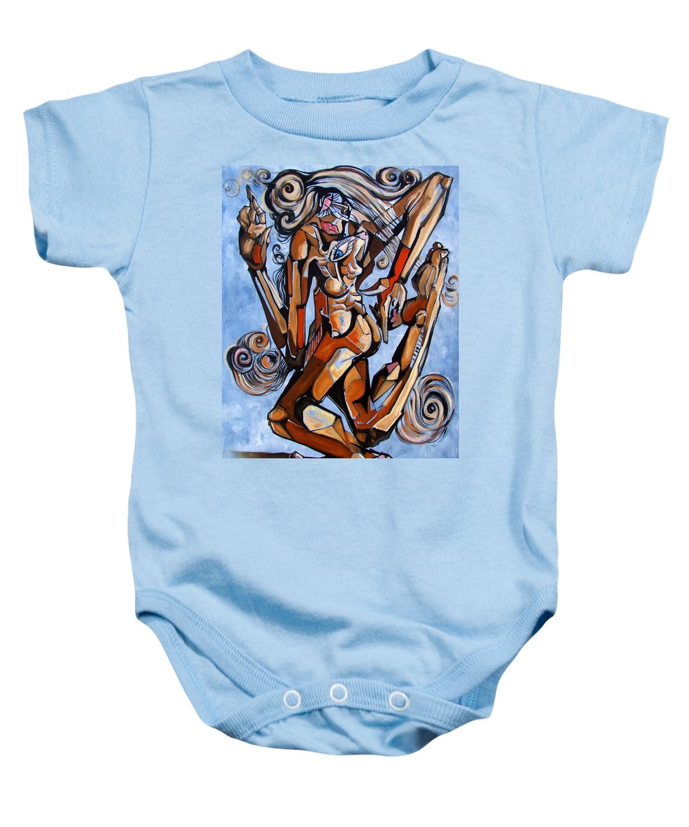 Surrealism Baby Onesie featuring the painting The Dance Of Ecstacy by Darwin Leon