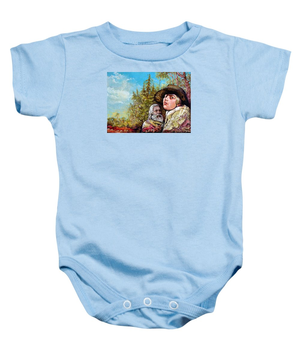 Surrealism Baby Onesie featuring the painting The Dauphin And Captain Nemo Discovering Bogomils Island by Otto Rapp