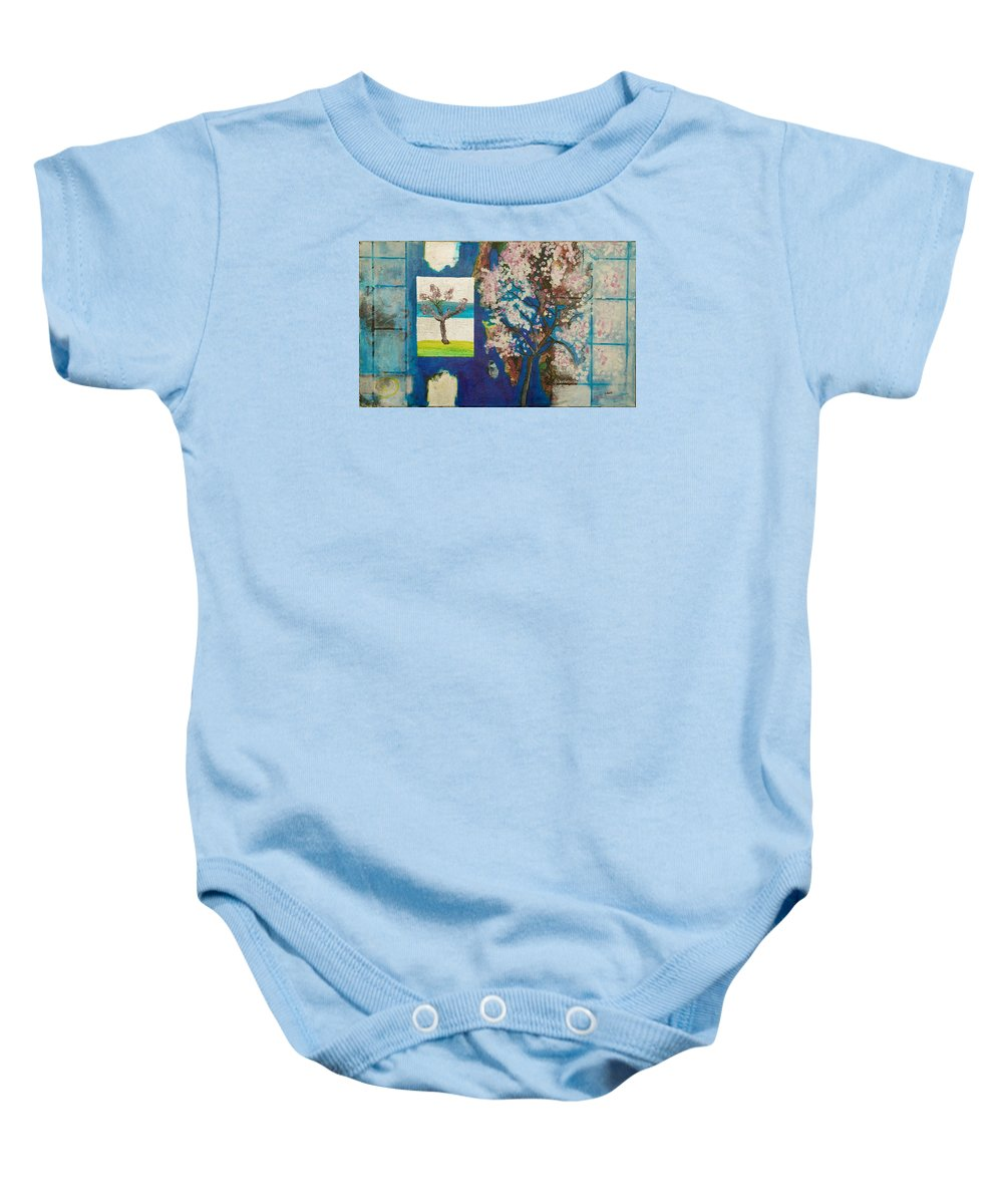 Baby Onesie featuring the painting The Dream by Jarle Rosseland