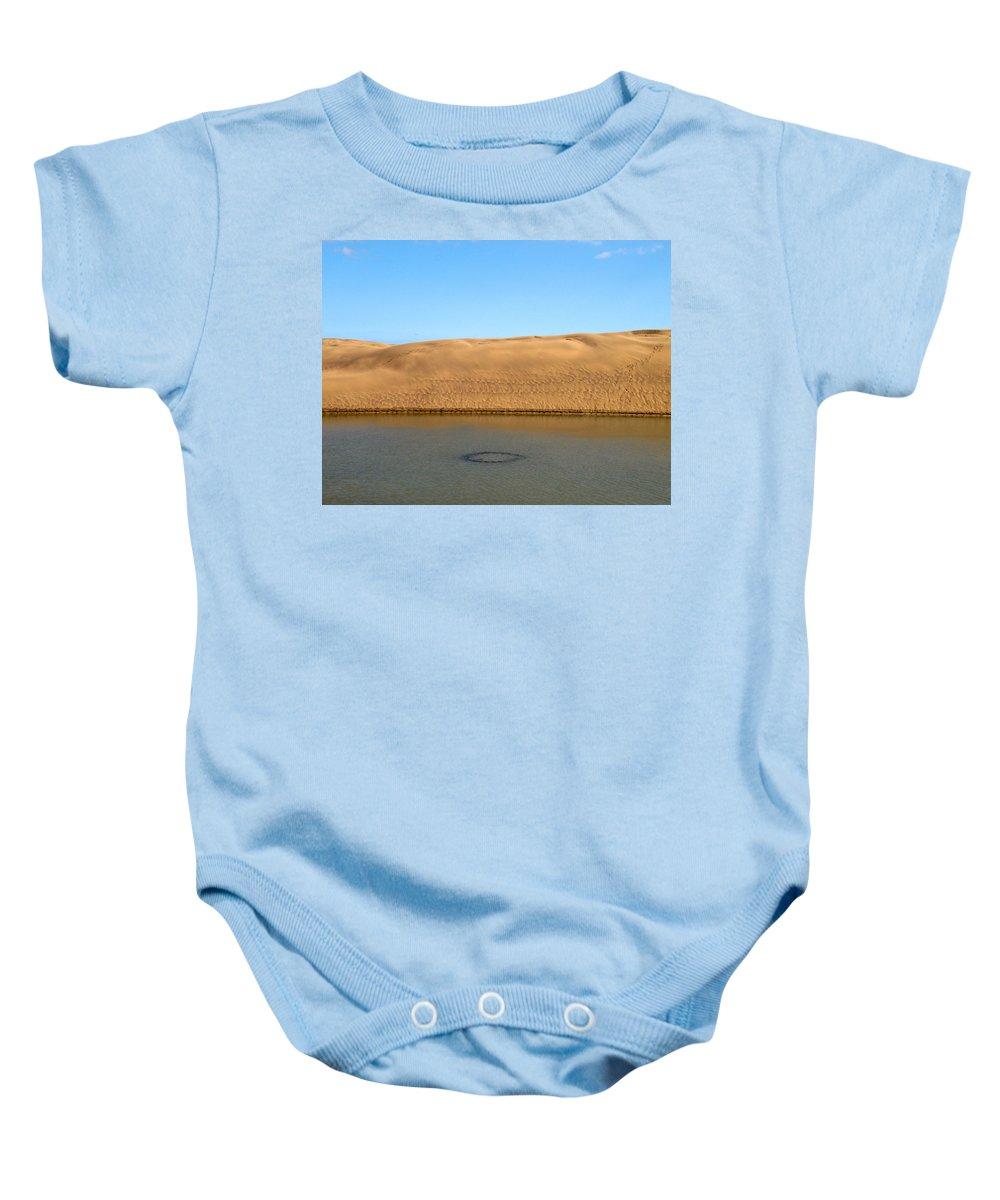 Lehtokukka Baby Onesie featuring the photograph The Dunes Of Maspalomas 3 by Jouko Lehto