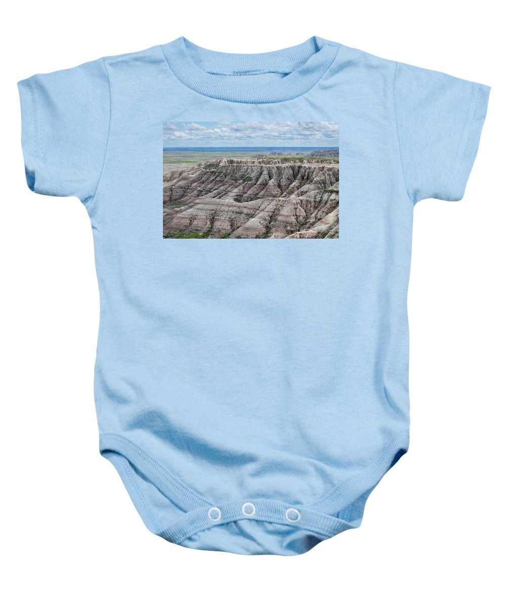 Panoramic Point Baby Onesie featuring the photograph The Edge Of Panoramic Point by Kyle Hanson